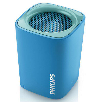 Cassa Speaker Bluetooth Wireless Altoparlante Portatile Microfono Philips Blu