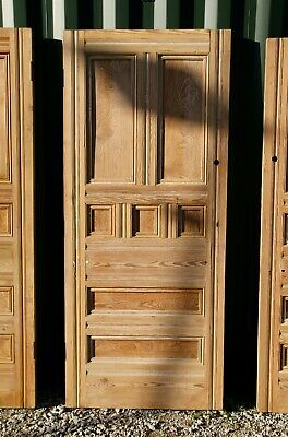 Large Pine Victorian Front Door Stripped / ANTIQUE / RECLAIMED / SALVAGE