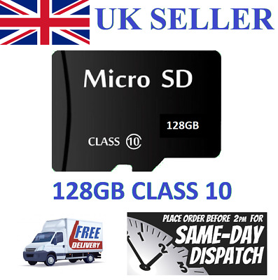 128GB Micro SD Card Class 10 TF Flash Memory SDHC SDXC For Phone Tablet Dashcam