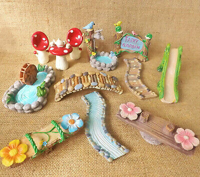 Enchanted Garden Woodland Miniature World Fairy Forest Dolls House Accessories