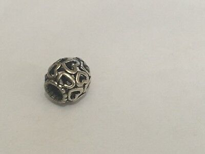 Genuine Pandora Openwork Charm heart/s S925 ALE excellent value needs a clean