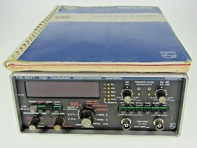 Philips PM6671 120MHz High Resolution Timer/Counter Frequenzzähler