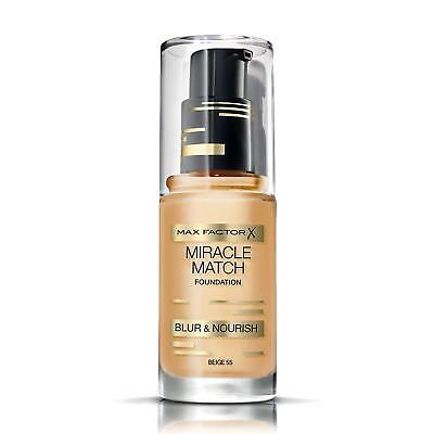Max Factor Miracle Match Blur And Nourish Foundation - 55 Beige