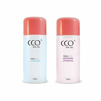 Cco - Authentic Nail Gel Polish Uv/led Soak Off Remover + Super Strong Acetone