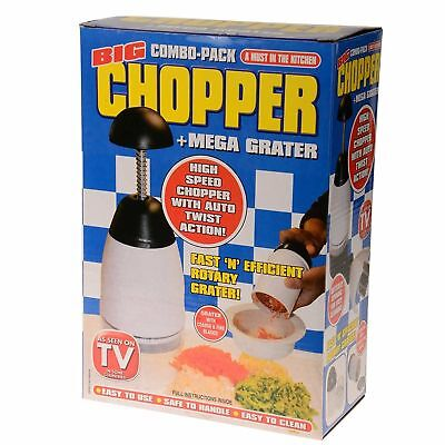 New Big Chopper with One touch Use and Mega Grater with Changeable Blades,