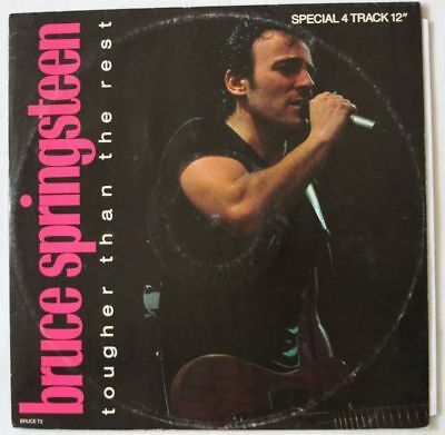 "BRUCE SPRINGSTEEN UK 1987 12"" Single TOUGHER THAN THE REST with LIVE tracks"