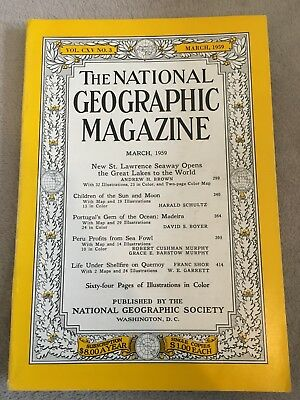 Vintage National Geographic Magazine March 1959
