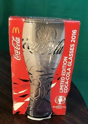 c54eb2f40cda Limited Edition UEFA FRANCE EURO 2016 Coca-Cola Glasses Cups PINK  Macdonald s