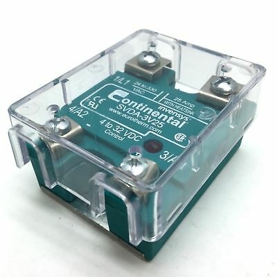 Continental SVDA-3V25 Solid State Relay, Control 4-32VDC, Contacts 24-330VAC 25A