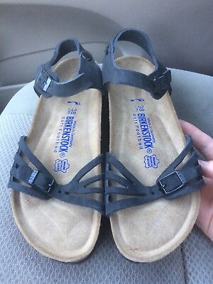 f2b06d5fc42b Rare new Birkenstock Bali silky suede soft footbed ankle strap sandals 7 N    38