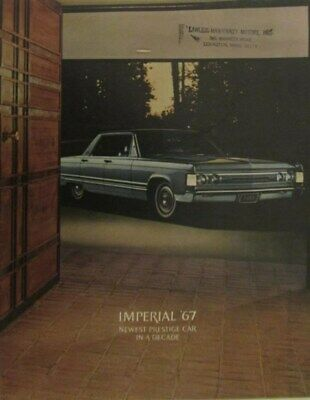 1967 Chrysler Imperial Lebaron Crown Sedan Coupe Convertible Sales Brochure Orig