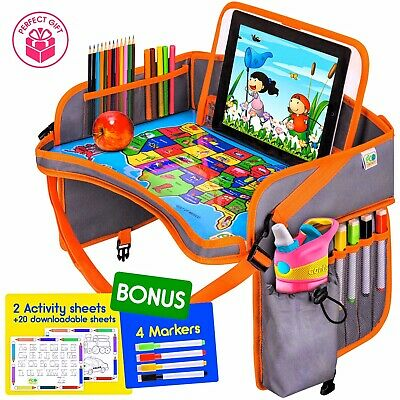 Baby Car Seat Travel Play Tray - Kids Activity Tray Table - Toddler Travel Desk