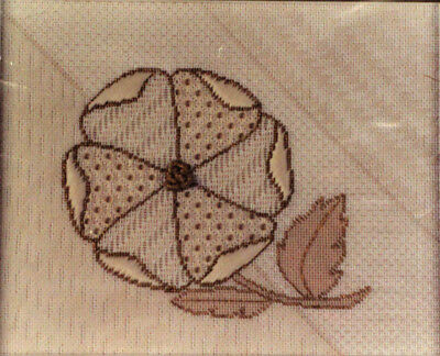 Susan Portra Wild Rose Pulled/Counted Thread Needlepoint Chart/Pattern