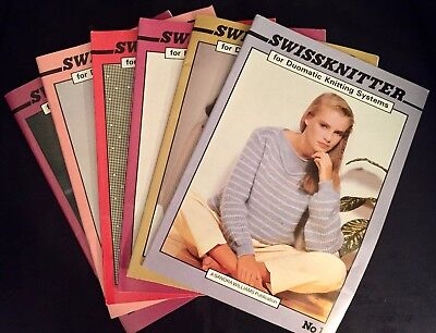 SWISSKNITTER MAGAZINE for Passap DuoMatic Knitting  Vintage Issues No.1-6 *NEW*