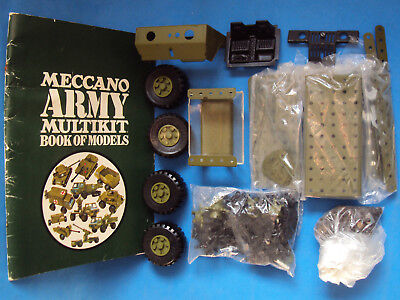 LOT vintage MECCANO construction ARMY multikit 1972 NEW nos STICKER sealed TRUCK