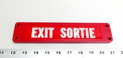 Vintage NOS EXIT SORTIE Sign U.S. Radium Corp. ISOLITE Safety Sign