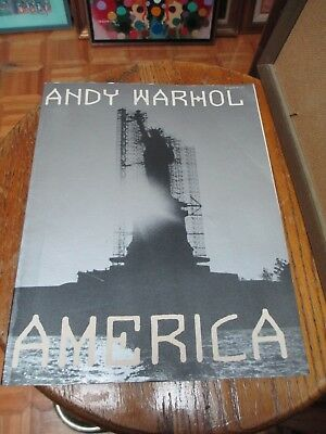 Andy Warhol AMERICA ART & Photo 1985 1st Edition Softcover