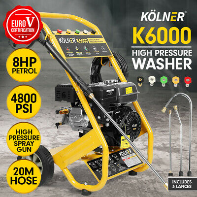 Kolner 8HP 4800psi Cleaner Petrol High Pressure Washer Gurney Pump Water Jet