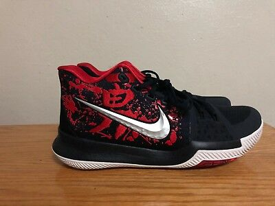brand new 1f675 ffe90 NIKE KYRIE IRVING 3 Samurai Christmas Mystery Black/Red 852395-900 Size 9  New