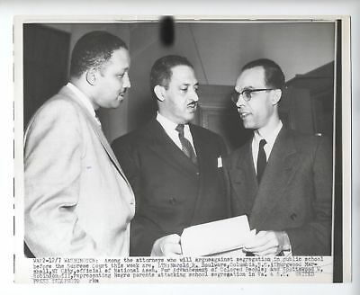 Thurgood Marshall segregation Supreme Court  NAACP ** VINTAGE 1953 press photo