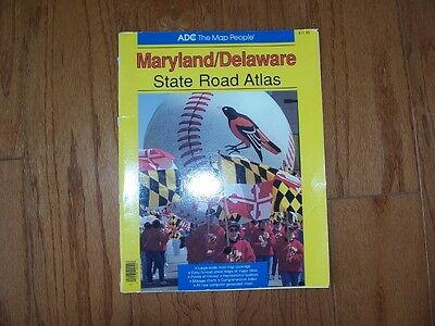 Maryland Delaware Sate Road Atlas   Adc 1997