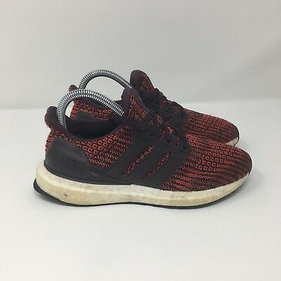 3d692f4e5d0 ADIDAS ULTRABOOST J Noble Red DB1429 Youth Running Shoes Primeknit ...