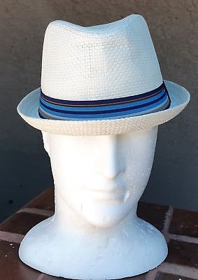 Trilby Hat by 'Avenel', Waffle Weave, White.
