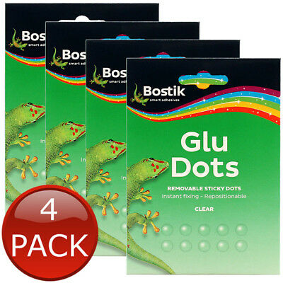 4 x BOSTIK REMOVABLE STICKY GLUE DOTS CLEAR TACK BOSTICK STICKY REMOVABLE BULK