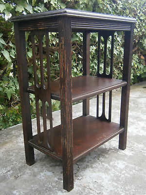 Heavy Antique Vintage Solid Blackwood 3 Tier Occasional Table 1900's