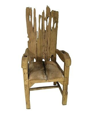 Peachy Teak Root Throne Chair With Goatskin Seat And Arms 299 00 Squirreltailoven Fun Painted Chair Ideas Images Squirreltailovenorg