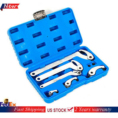 6pc Adjustable Hook And Pin Wrench / Spanner Tool Set with Blue Carrying Case US
