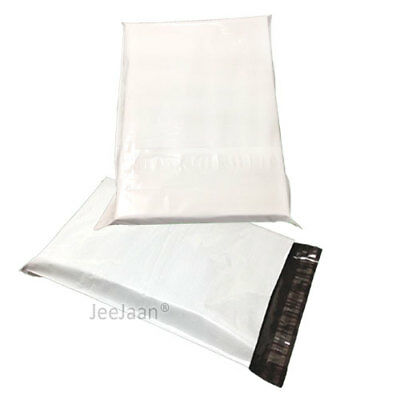 """White Postal Bags Mailing 12"""" x 16"""" Parcel Post Plastic Pack of 500 Mailers"""