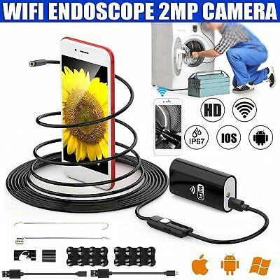 Newly WIFI Endoscope 2MP 8 mm  Bore scope Inspection Camera iPhone Android PC 2M