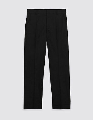 Boys Ex M&S & George Older Boys Black School Trousers To Clear