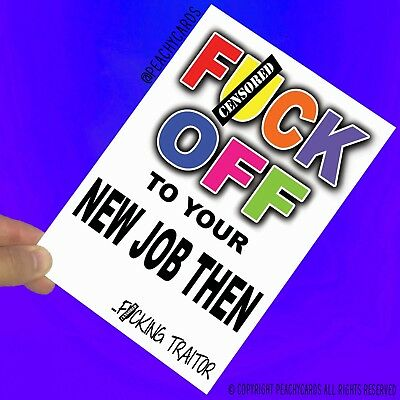 Funny Leaving Cards New Job Gift Colleague Co-Worker Banter Good Luck Bye PC858