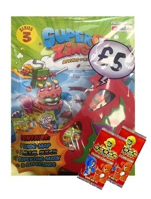 SUPERZINGS SERIES 3 STARTER PACK (INC METAL SLIDER, MASK) + 2 GoGo CARD PACKS