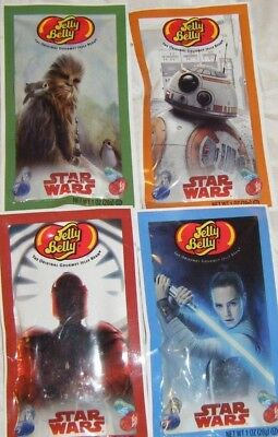 STAR WARS Jelly Belly Beans Lot (4) Pack 1 oz Bags NEW Exp NOVEMBER 2019