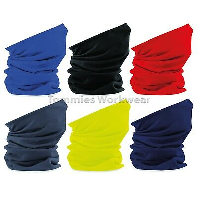 Beechfield Super Fleece Face Shield Thermal Neck Tube Snood Scarf Hat (B920)