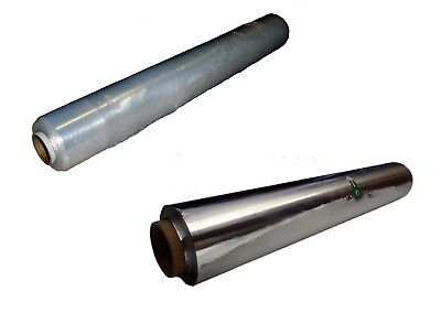 Aluminium KITCHEN/CATERING FOIL and Cling FILM Medium and Large Quality SpOff