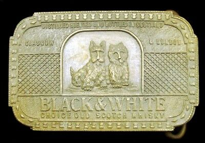 Lk26166 Black & White Scotch Whisky Solid Brass Fantasy Collector Buckle