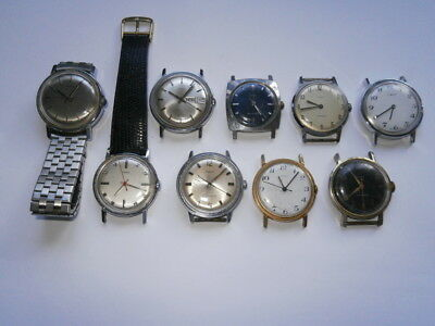 Job lot of vintage gents TIMEX watches mechanical watches spares or repair