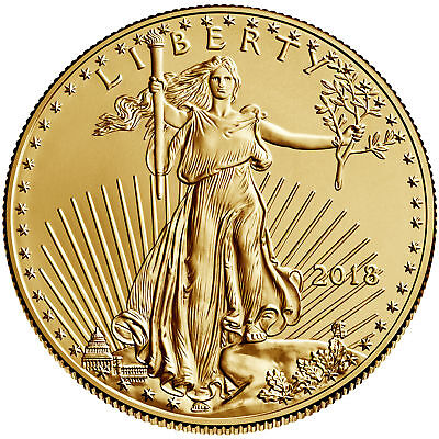 2018 - $50 1oz Gold American Eagle BU