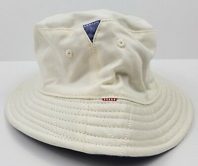 0b4bb5e3035 NWT Herschel Supply Co Lake Bucket Hat Size S M Reversible Natural Chambray