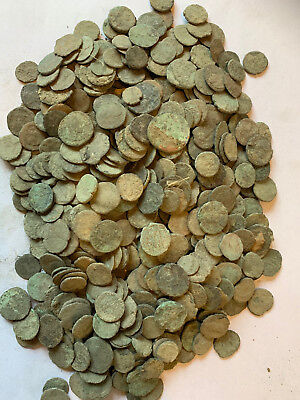 7 x uncleaned bronze Roman Coins  (all from photo) + some extra