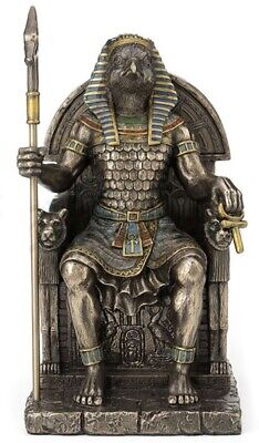 Horus Egyptian Sky God On Throne Statue Sculpture Figurine Decor  - PERFECT GIFT