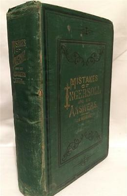 1882 Mistakes Of Ingersoll Agnostic Thought Free Thinking Liberal Anti Religion