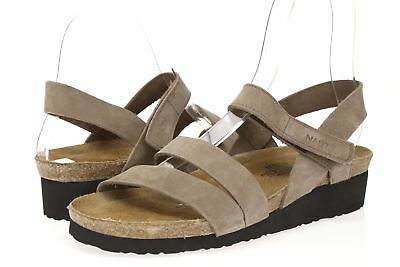 59c4b0fa2f3c Womens NAOT Krista 160197 Taupe   Gray Leather Strappy Sandals size 41   10
