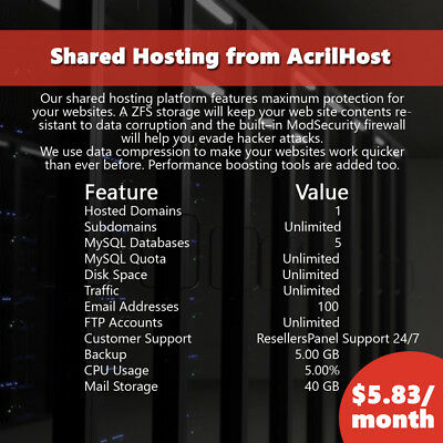 Web Hosting | 100% secure web hosting with unlimited traffic for your websites