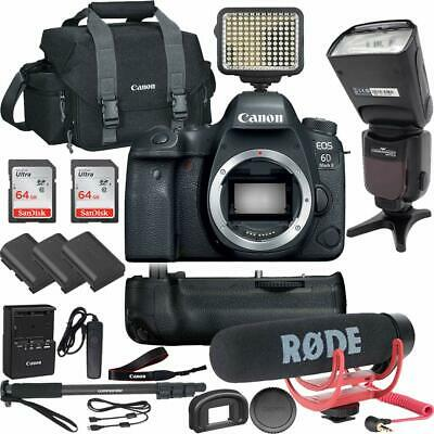 Canon EOS 6D Mark II DSLR Camera (Body Only) with Professional Accessory Bundle