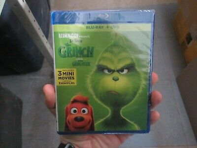 BRAND NEW Dr. Seuss The Grinch 2018 (Blu Ray + DVD + Digital)